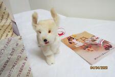 PLEASANT COMPANY Molly Playful Pup PET DOG BENNETT Real Fur Edition Maroon Box