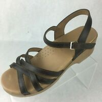 Dansko Womens Brown Leather Ankle Strap Slingback Clog Sandal EU 40 US 10.5 - 11
