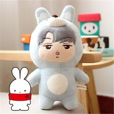 KPOP EXO Oh Se Hun SEHUN Blue Rabbit Plush Toy Stuffed Doll Fans Handmade Gift