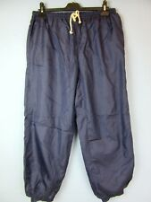 "VINTAGE RETRO 80's 90's blue SHELL SUIT TRACKSUIT BOTTOMS w28-30"" L26"" tb45"