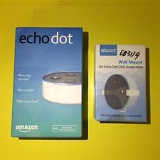 Blanc Amazone Echo Pois 2nd Génération Alexa sans Fil Smart Haut-Parleur +