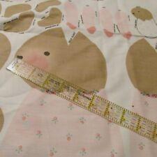 """Daisy Kingdom Ballerina Bunny doll Nina PINK 7"""" 22"""" cotton fabric panel to make"""