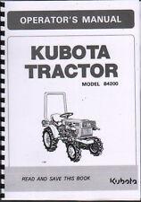 """Kubota """" modèle B4200 """" TRACTEUR opérateur Instruction Manuel Livre"""