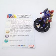 Heroclix Iron Man 3 Movie set Iron Man and Iron Patriot #017 Chase figure w/card