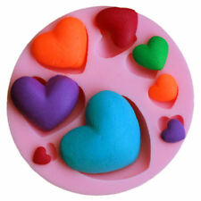 New Heart Shapes Silicone Mould for Fondant Paste Chocolate Icing Crafts