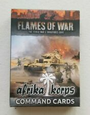 Flames of War Afrika Corps Command Cards NIB