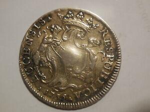 Lucca scudo 1756 San Martino argento
