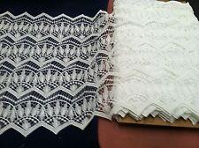 "Antique Venise Lace Cotton  20"" Allover  Bridal  Embroidery Curtain"