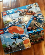 LEGO City LOT: 60209 Sky Police Diamond Heist 60208 Parachute, 60206 Jet, 60212