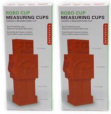 2 x Tazas de medición Robot De Plástico Rojo Juego De 4 Utensilios de  Cocina Hornear Plástico UK f4f8454a72c1
