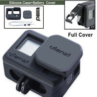 For GoPro Hero8 Black Camera Silicone Protective Case + Battery Lid Cover Shell