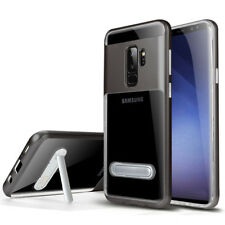 For Samsung Galaxy S9 Plus Kickstand Clear Glossy Hybrid Rubber Case Cover Shell