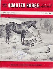 QUARTER HORSE JOURNAL - JANUARY 1961