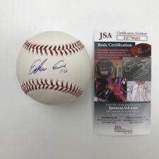 Autographed/Signed EDWIN ENCARNACION Yankees Rawlings ROML Baseball JSA COA Auto