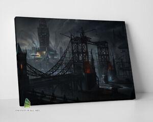 Futuristic Steampunk City Canvas Art Canvas Print Wall Art Photo Picture --C461