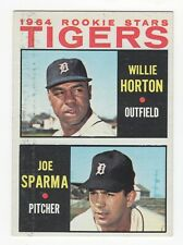 1964 Topps #512 Tigers Rookie Stars WILLIE HORTON JOE SPARMA No Creases EX