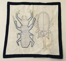 """NWT Pottery Barn Kids BEETLE Linen Icon Decorative Pillow Cover Sham 16 x 16"""""""