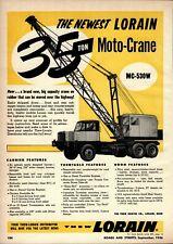 1956 Thew Shovel Co. Print Advertisement: Lorain Moto Crane MC-530W 35 Ton Unit