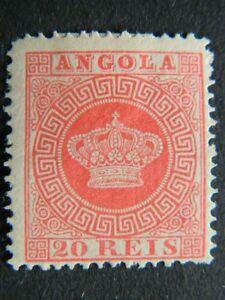 1653 ANGOLA  SC# 11 MINT OG HINGED    CAT $21