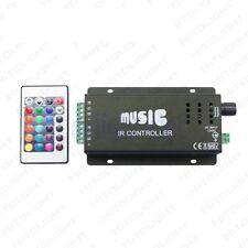 Sensore audio musicale RGB Controller IR 12V 10A 144W per luce striscia LED DB