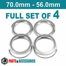 70.0 - 56.0 Spigot Rings Hub Rings FULL SET BBS wheels aluminium spacer rings
