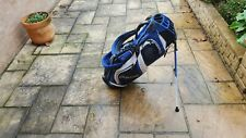 CLEVELAND CG HYBRID Stand/Carry 14-Way 8 Pocket Golf Bag Blue and White