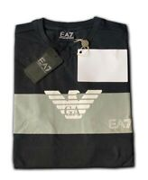 Men's EA7 Emporio Armani Crew Nack Short Sleeve T- Shirts Black Size:Medium Sale