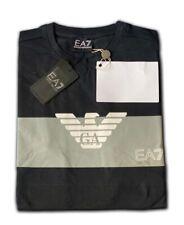 Men's EA7 Emporio Armani Crew Nack Short Sleeve T- Shirts Black Size:XLarge Sale