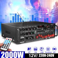 Sunbuck 2000W bluetooth HiFi Power Amplifier Pro Stereo Home Karaoke System AUS