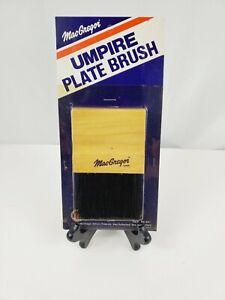 "Vintage 1980 MacGregor Wood Baseball Umpire Home Plate Brush **New "" NIP B91"