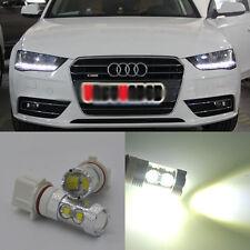 For Audi A4 Q5 2x Xenon White 50W P13W CREE LED Bulb Daytime Running Lights DRL