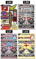 Honda Wings Logo Stickers Bike Tank HRC Motocross MTB MX Supercross Decals Sheet