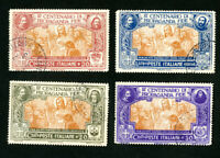 Italy Stamps # 143-6 VF Used Scott Value $700.00
