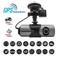 X3000 Dash Cam Dual Lens Camera Recorder Car DVR Video R300 HD 1080P G-Sensor