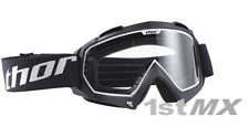 Thor Enemy Solid Black Clear Lens Motocross MX Offroad Race Goggles Youth