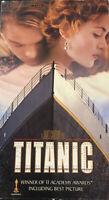 Titanic [VHS, 1998] Two-Tape Box Set Leonardo DiCaprio Kate Winslet James Camero