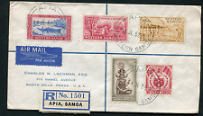 SAMOA: (14945) Five colour franking/cancel/cover