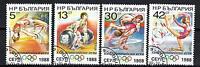 jo Sommer Bulgarien (54) Serie komplette mit 4 Briefmarken entwertet
