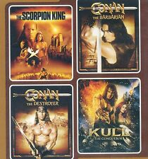 4 movies Scorpion King, Conan Barbarian Destroyer, Krull, new DVDs Rock, Arnold