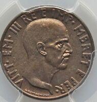 1940-R Albania Vittorio Emanuele III Italian Protectorate .05 Lek PCGS MS65 GEM