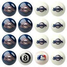 Milwaukee Brewers Pool ball set Home and Away MLB Pool Ball Set FREE US SHIPPING