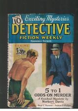 Detective Fiction Weekly Feb 6 1937 Vol CVIII No 4 5 to 1 Odds on Murder
