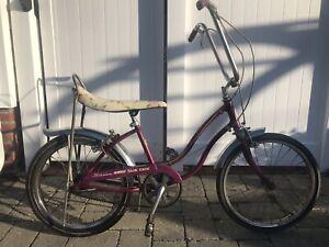 SCHWINN STINGRAY SLIK CHIK 1971 3 speed, violet, All original Bike and tires