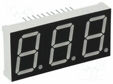 "Display: LED; 7-segment; 20.32mm; 0.8""; No.char: 3; red; 11mcd; anode[1 pcs]"
