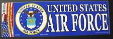 US Air Force USAF Bumper Sticker made in the USA 9 x 3.25 inches