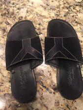 100% Authentic Yves Saint Laurent Men Black Sandals 42 Ysl