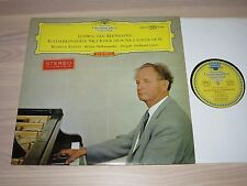 DGG BEETHOVEN LP - WILHELM KEMPFF / PIANO CONCERTO NO. 2 / RED STEREO in MINT