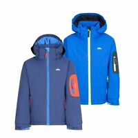 Trespass Boys Ski Jacket Waterproof Blue Hooded Warm Coat Kids 2-12 Years