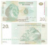 Congo 20 Francs 2003 P-94 Banknotes UNC