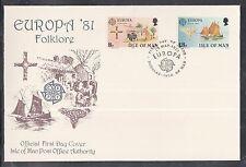 K 01) Isola di Man EUROPA CEPT FDC 1981-folklore